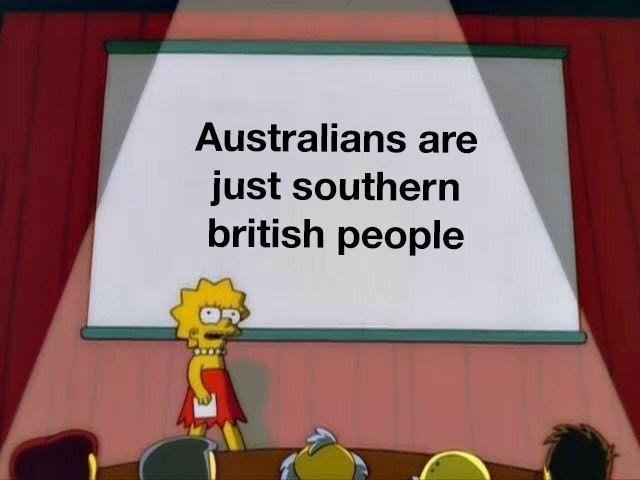 Lisa Simpson meme about Australian people