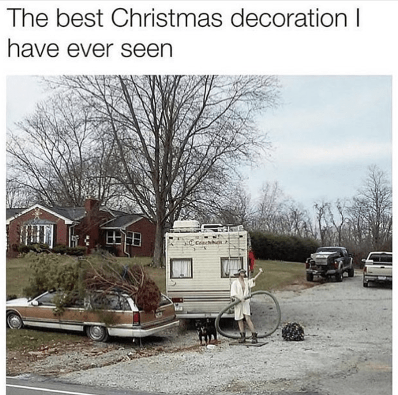 photo of Christmas decoration referencing National Lampoon's Vacation movie