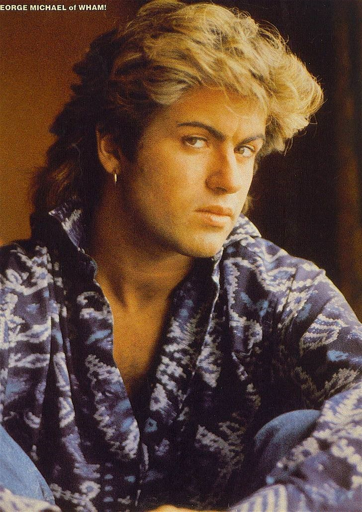 Mullet on young blonde George Michael