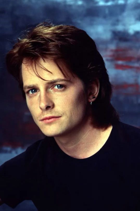 Mullet on young Michael J Fox