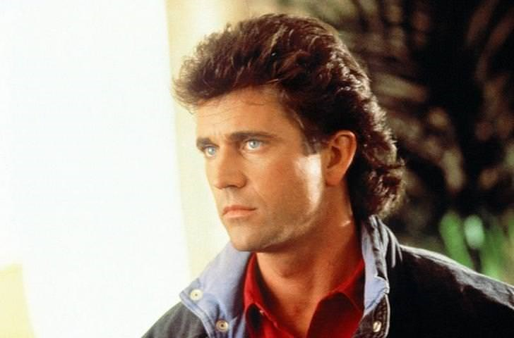 Mullet on young Mel Gibson
