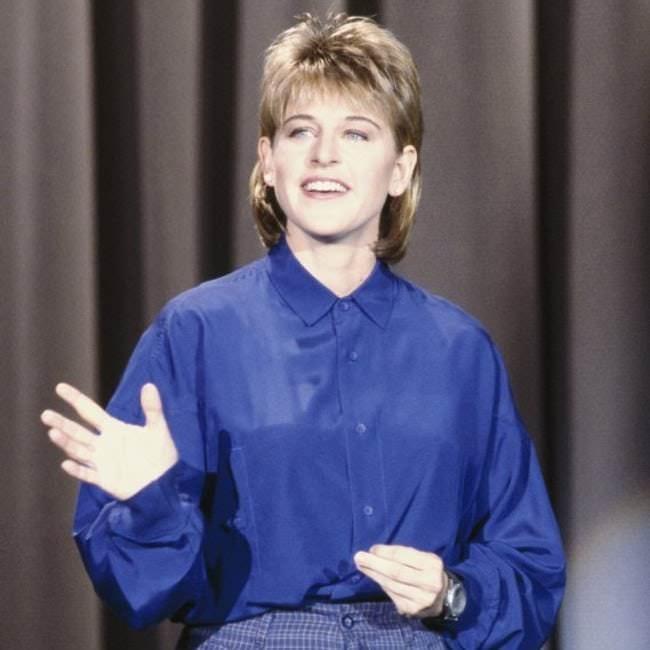 Mullet on young Ellen DeGeneres