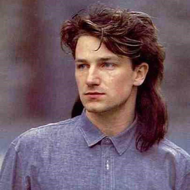 Mullet on young Bono from U2