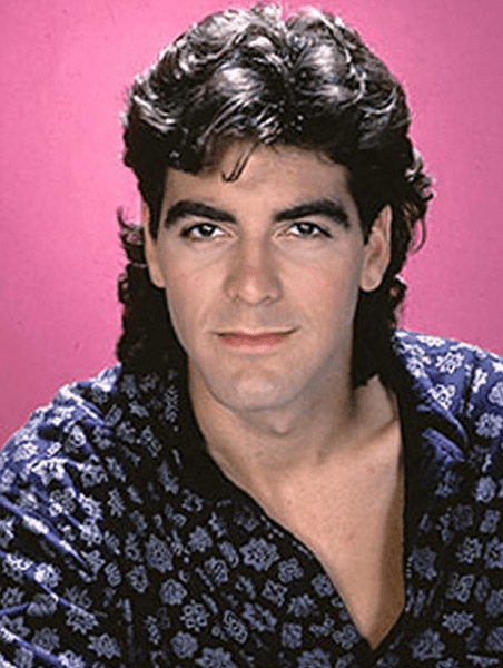 Mullet on young George Clooney