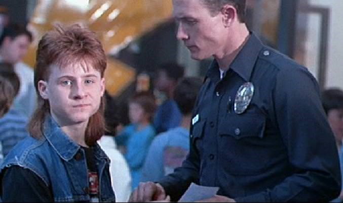 Mullet on young Danny Cooksey in Terminator 2