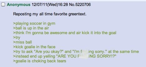 """are you fucking sorry"" greentext"