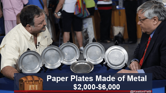 cursed image - Idiophone - Paper Plates Made of Metal $2,000-$6,000 AR @KeatonPatti