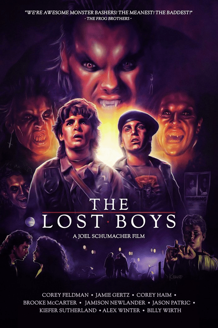 "poster for the vampire movie ""The Lost Boys"""