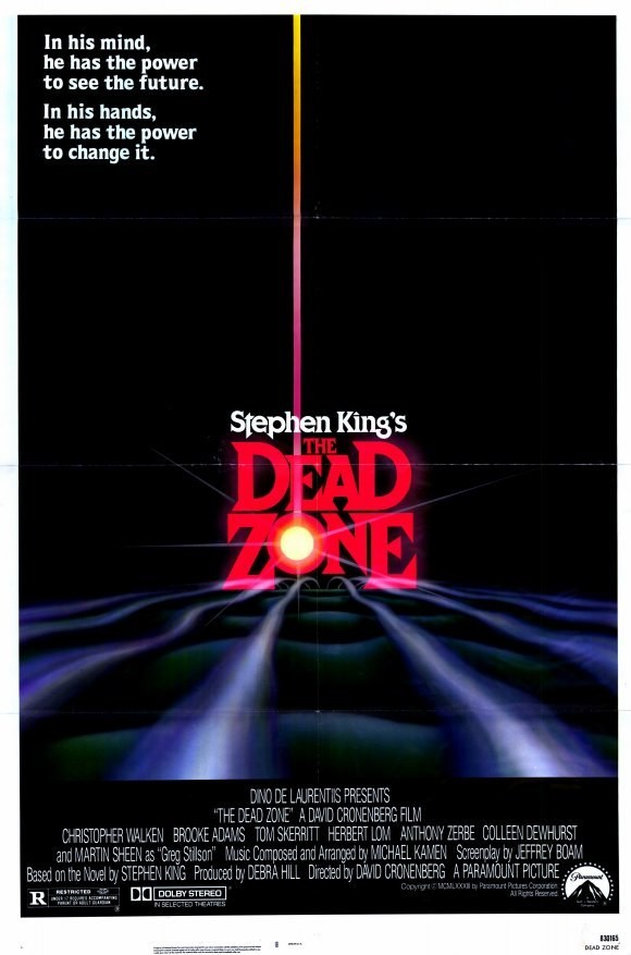 """poster for the movie """"The Dead Zone"""" by Stephen King"""