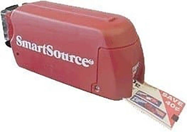 Pic of a SmartSource machine that dispenses coupons at grocery stores