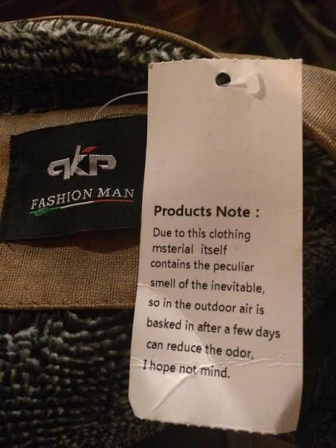Text - akip FASHION MAN Products Note: Due to this clothing msterial itself contains the peculiar smell of the inevitable, so in the outdoor air is basked in after a few days can reduce the odor Ihope not mind.