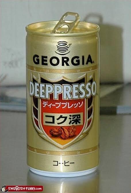 Tin can - GEORGIA DEEPPRESSO ディーププレッソ コク深 コーヒー ENGRISH FUNNY.com