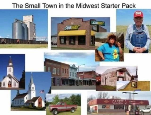 Property - The Small Town in the Midwest Starter Pack SUBWAY SUBWAY H7CASEY'S