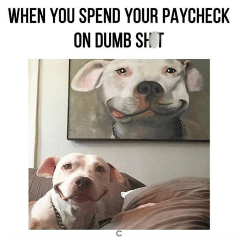 meme about getting a giant portrait of your dog
