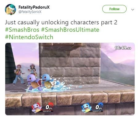 Rock - FatalityPadoruX @FatalitySonicx Follow Just casually unlocking characters part 2 #SmashBros #SmashBrosUltimate #NintendoSwitch 16:49.co SOATLE souLE >