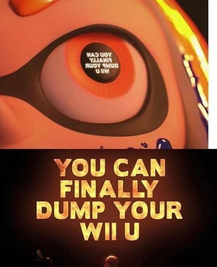 Orange - U IW YOU CAN FINALLY DUMP YOUR WII U