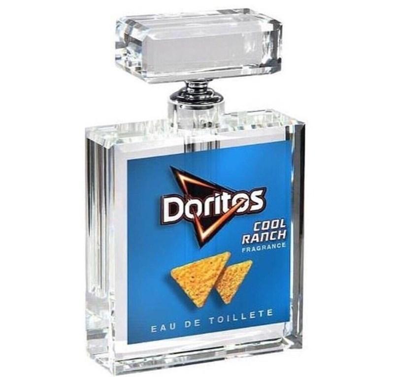 strange meme about Doritos scented perfume