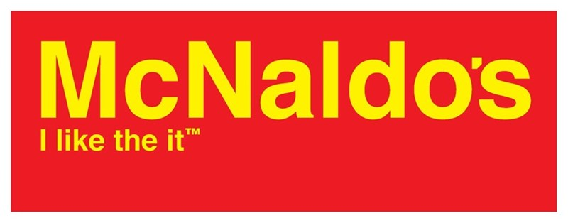 strange meme about the McDonald's logo and slogan