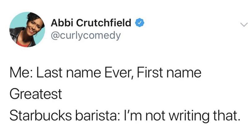 amusing meme about quoting Drake lyrics when ordering at Starbucks