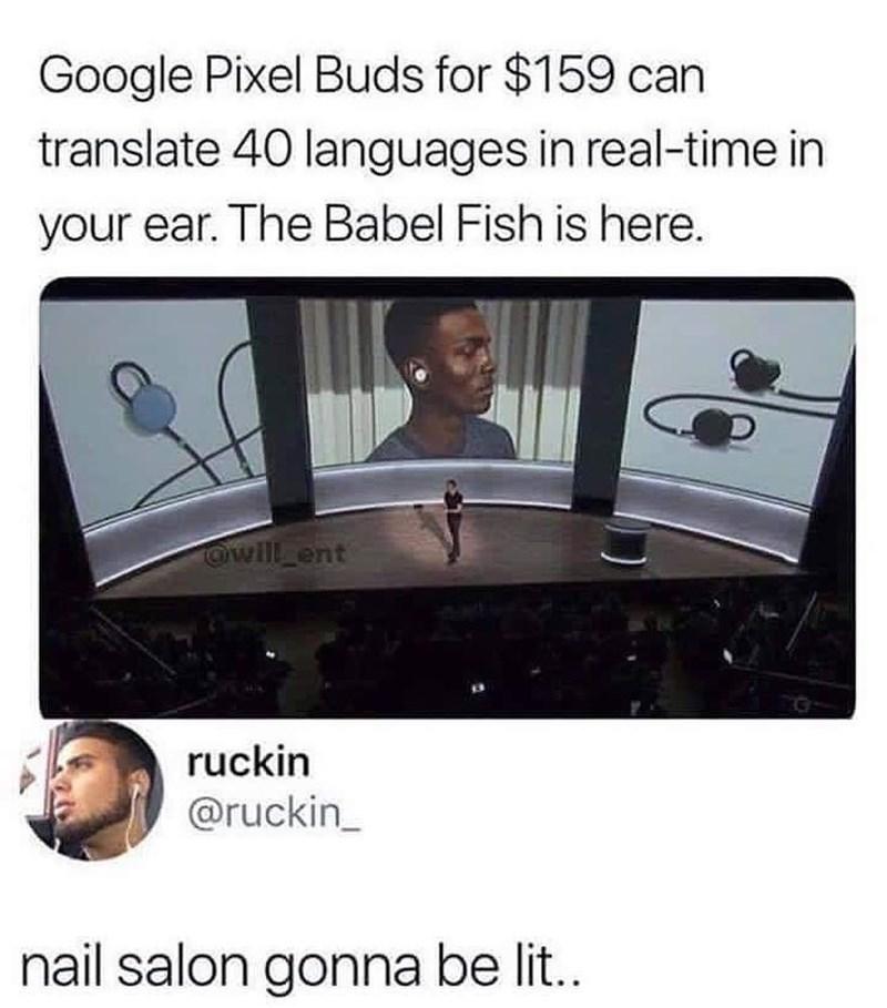 Funny meme about translator.