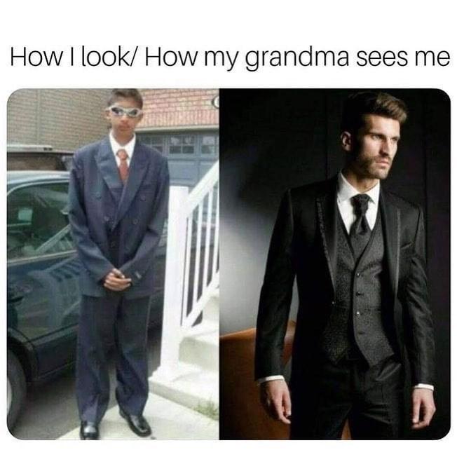 Funny meme about grandma