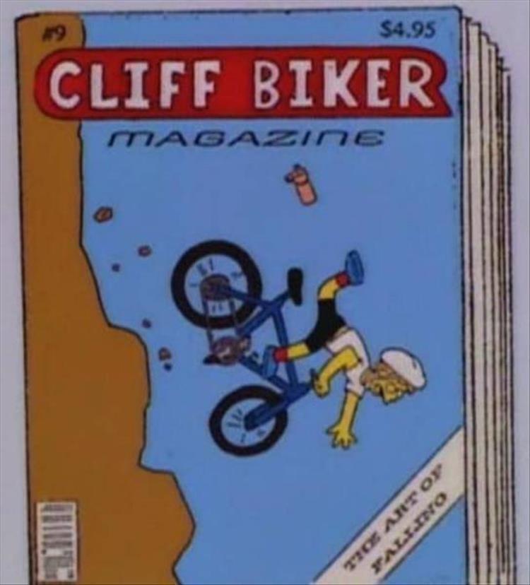 Cartoon - $4.95 #9 CLIFF BIKER MAGAZINE FALLINO