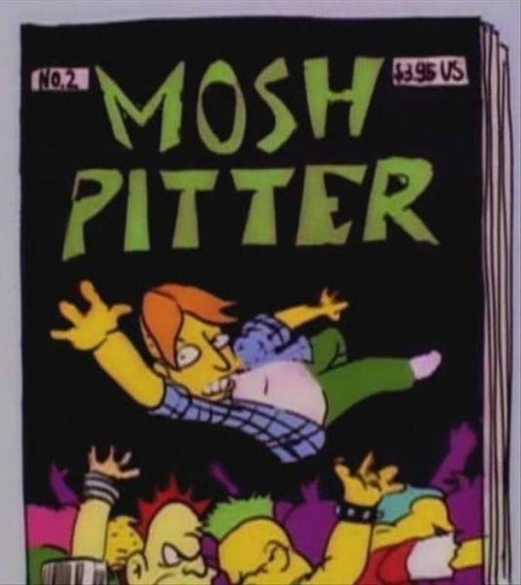 "Cartoon - ""MOSH PITTER $3 95 US NO.2"