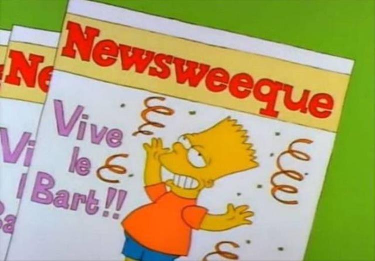 Cartoon - Newsweegue Ne Vive Vi le& iBart!! w