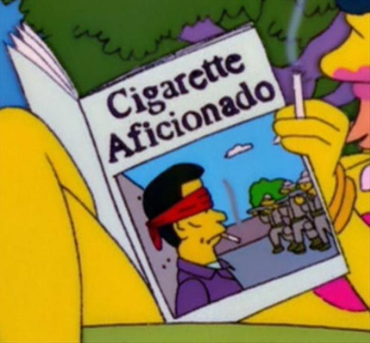 Cartoon - Cigarette Aficionado