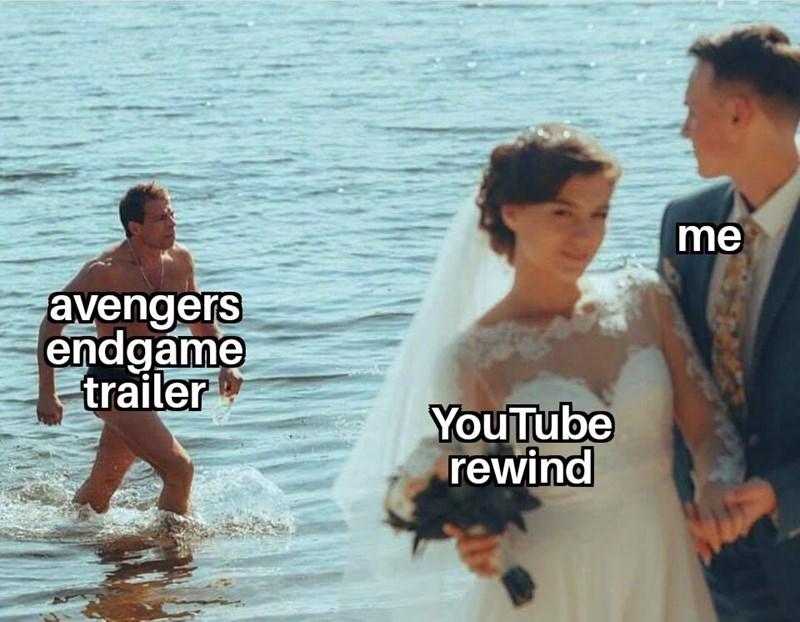 Male - me avengers endgame trailer YouTube rewind