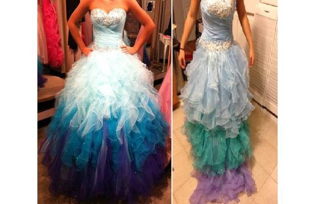 prom dress that looks completely different from the image on the website