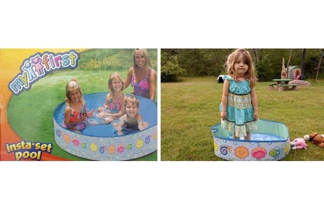 online shopping fail of a kiddie pool that is actually too small