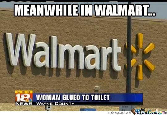 woman got glued to a toilet seat at a Walmart