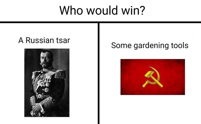dank meme about communism bringing down the Russian monarchy