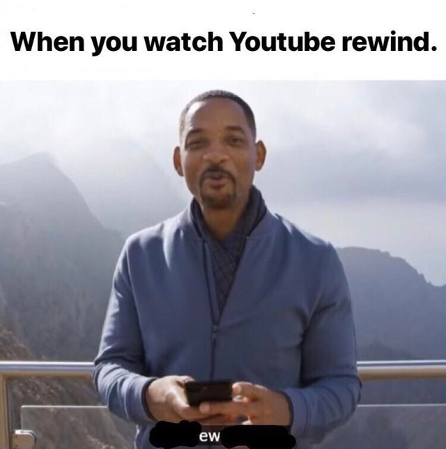 Youtube Rewind Meme about Will Smith being disgusted by it