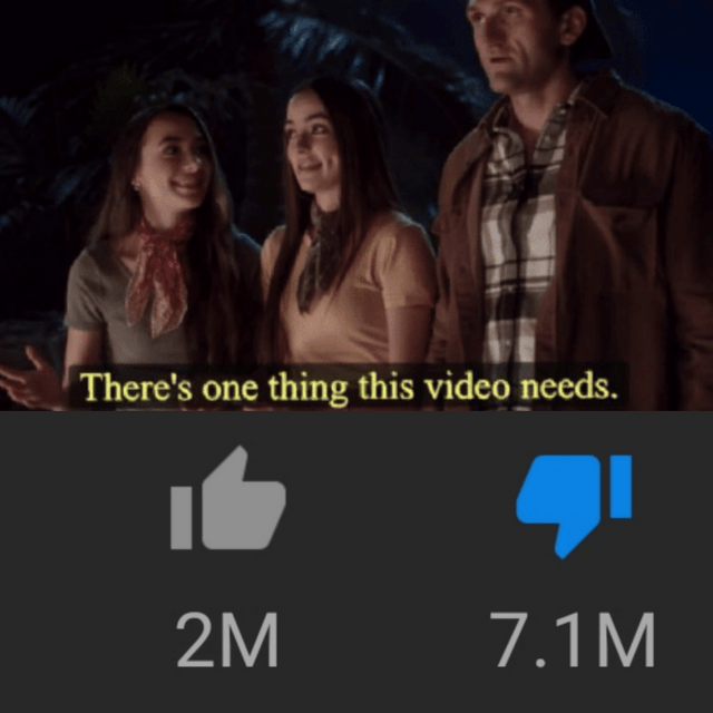Youtube Rewind Meme about disliking the video