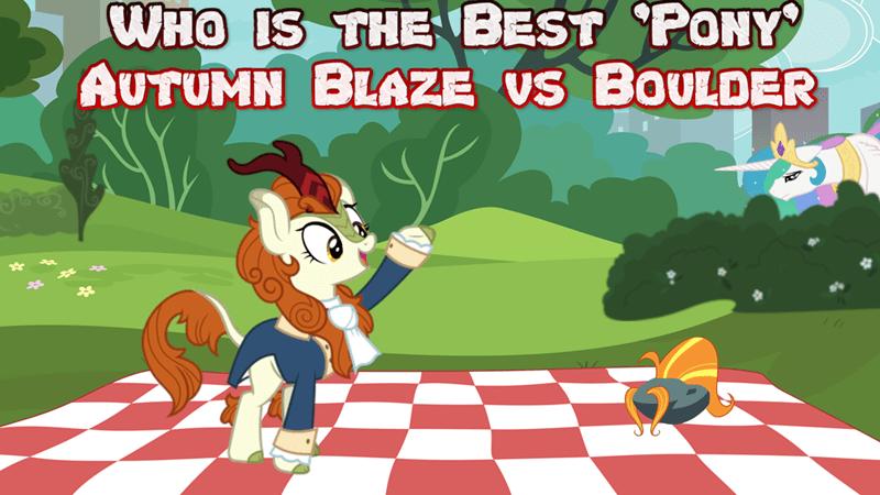 boulder autumn blaze kirin princess celestia best pony - 9246616320