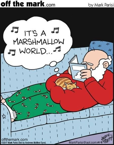 Cartoon - off the mark.com by Mark Parisi IT'S A MARSHMALLOW WORLD.. offthemark.com 2017 Mark Parisi Dist by Andrews McMeel Synd. MAIZK MarkParisi@aol.com/2-9 FARIZ