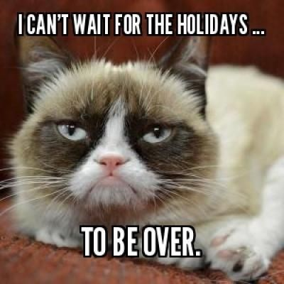 grumpy cat hating the holidays