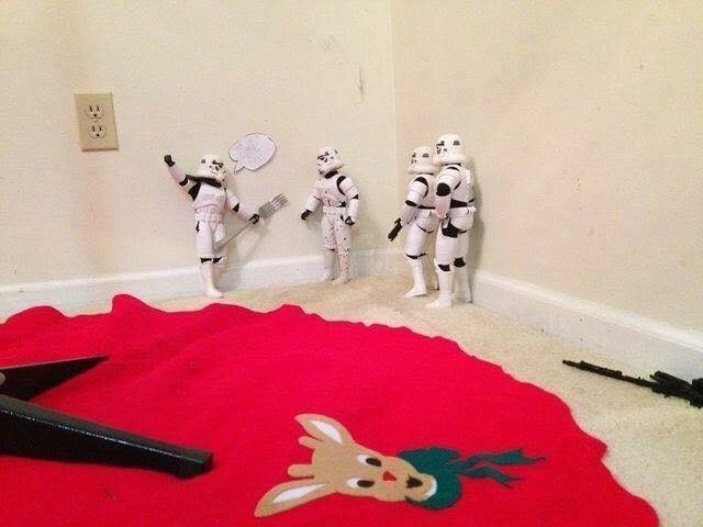 picture of Stormtrooper considering sticking fork into electric socket