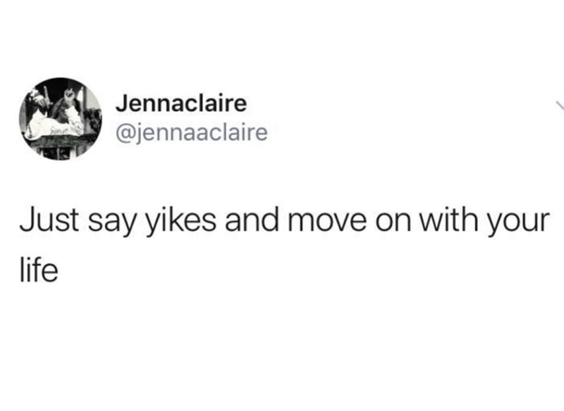 tweet about how to easily move on in life from something