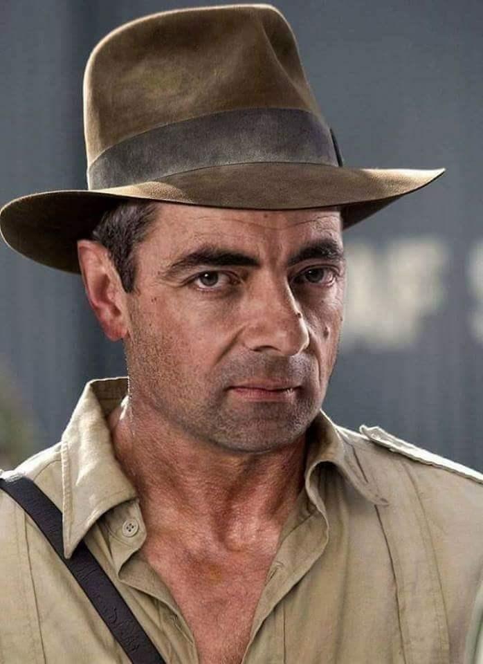 Mr. Bean photoshopped as Indiana Jones