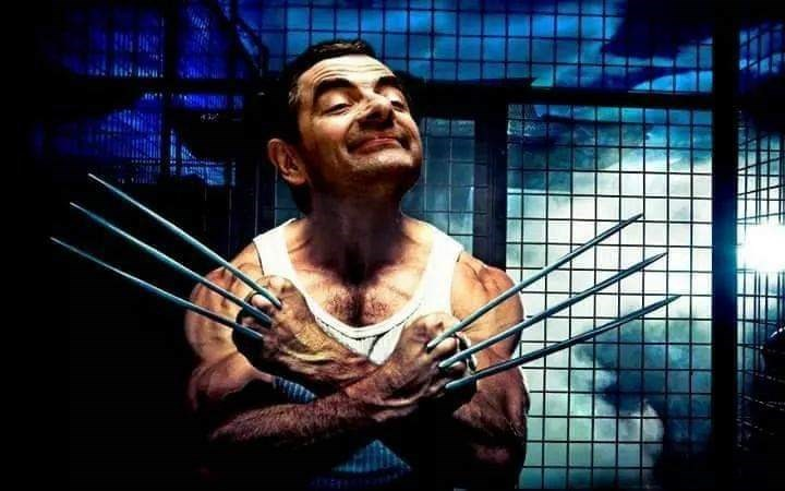 Mr. Bean photoshopped as Wolverine from X Men