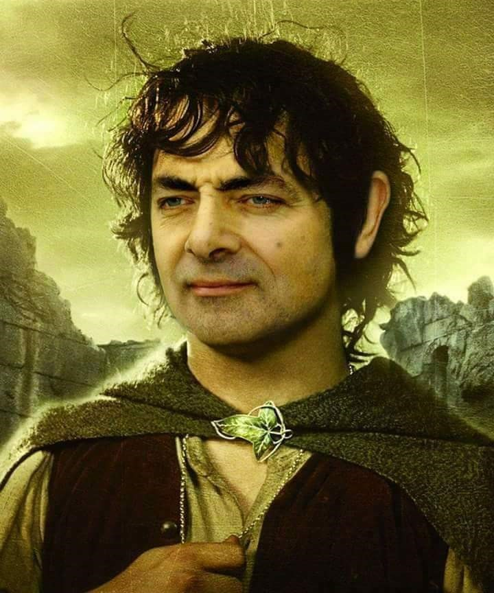 Mr. Bean photoshopped as Frodo from LotR
