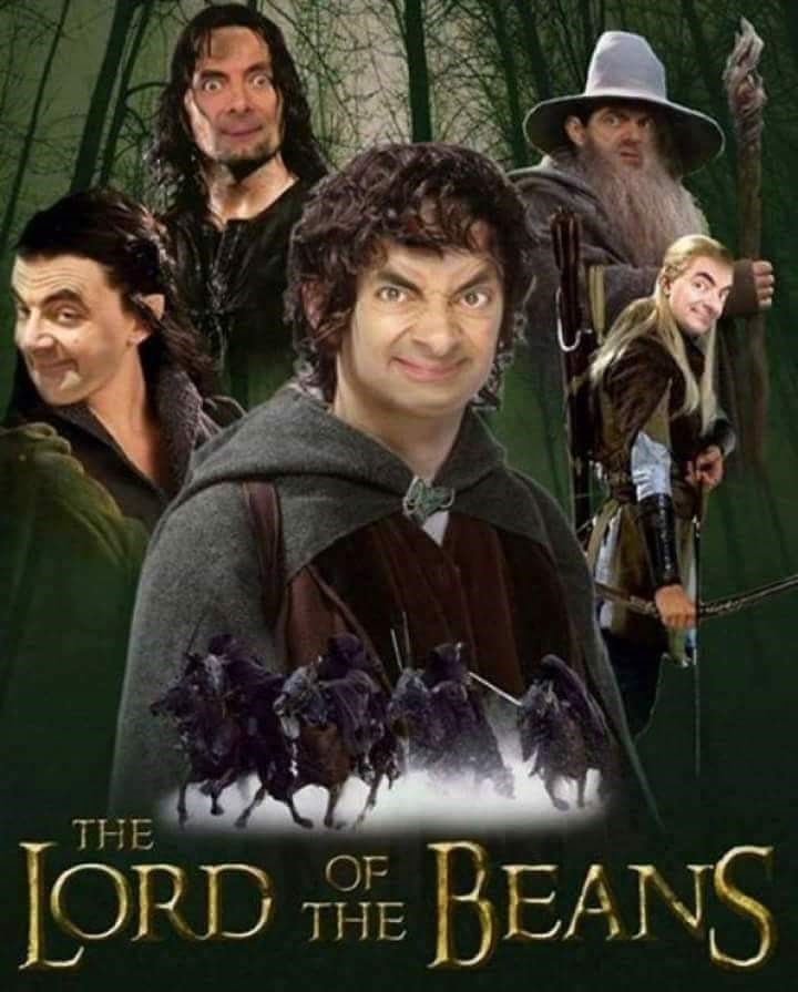 Mr. Bean photoshopped as every character from Lord of the Rings