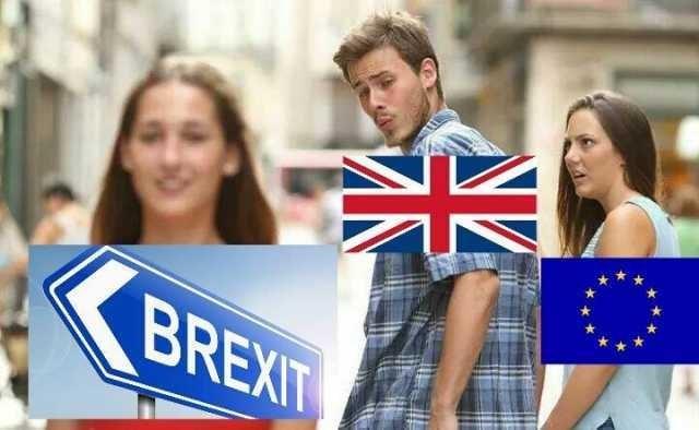 distracted boyfriend meme about brexit