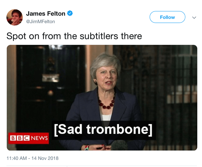 theresa may on bbc about brexit meme