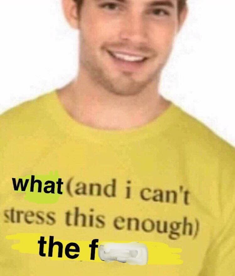 """pic of """"I can't stress this enough"""" T-Shirt"""