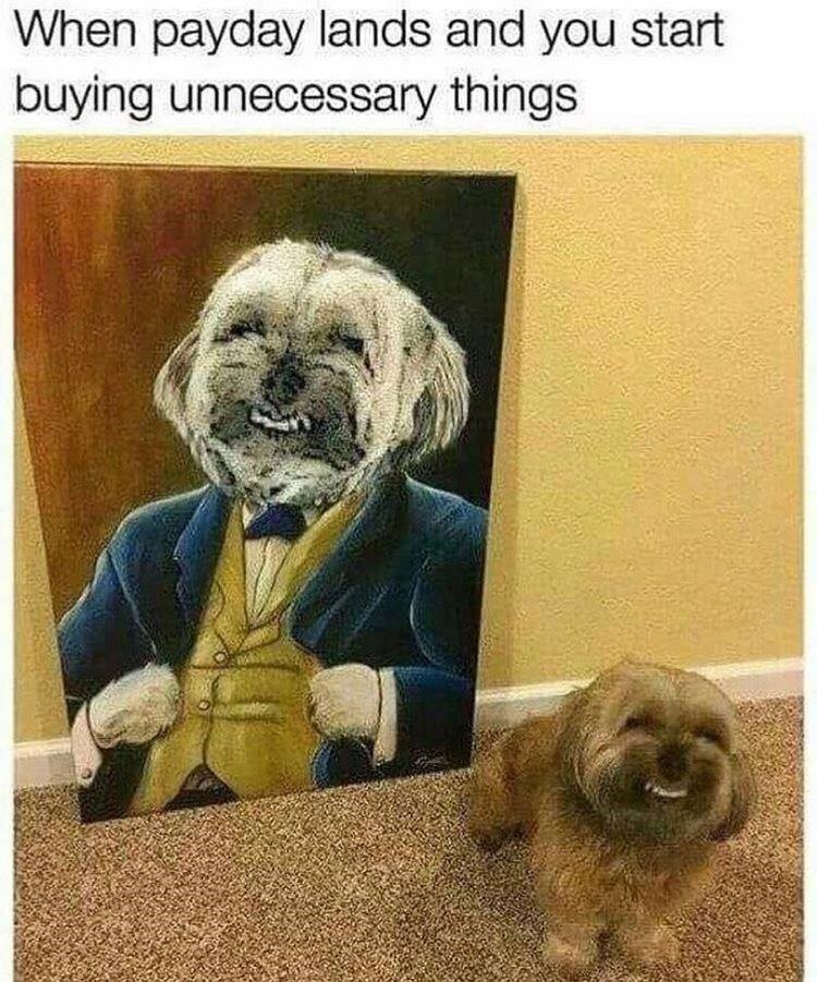 pic of a dog and a painting of it right next to him