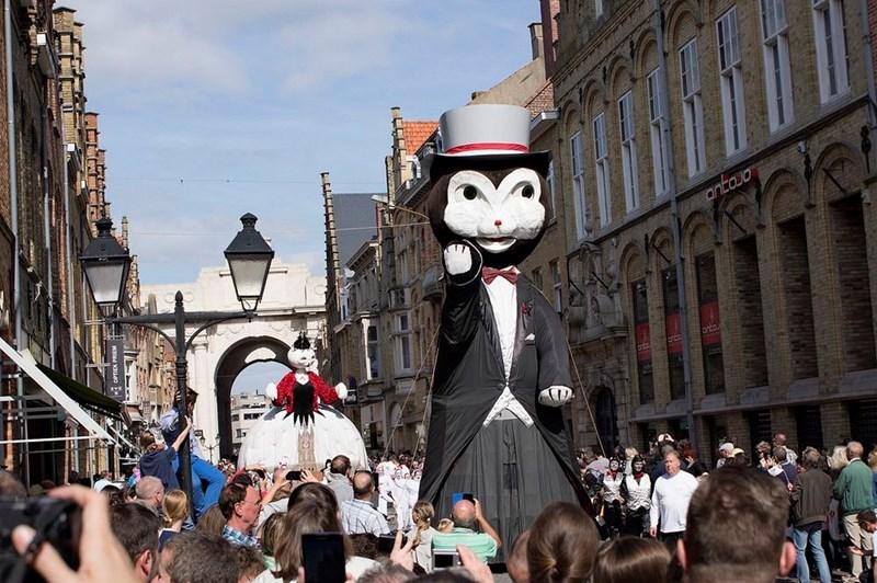 cat parade in Belguim